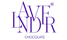 Lavender Chocolate logo flowers design and chocolate gifts Qatar
